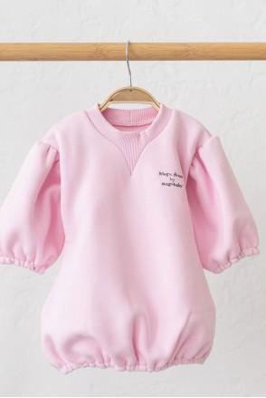 Платье на флиcе для детей MagBaby Aleksa розовое