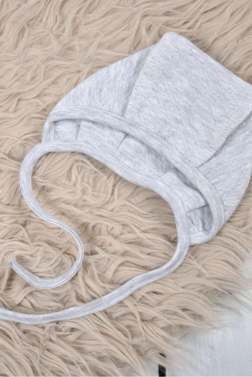 Євро пелюшка кокон утеплена на блискавці + шапочка капітоне сіра