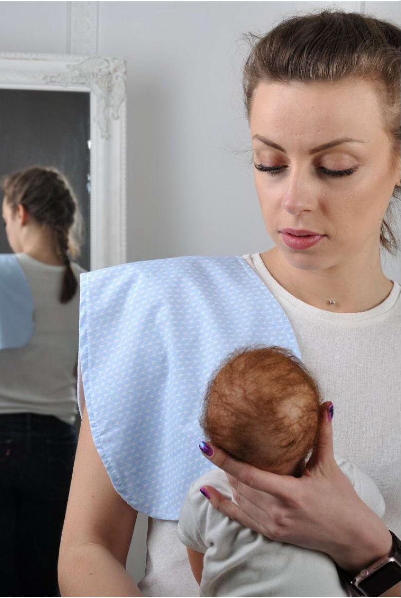 Рушник для гігієни новонародженого Блакитна в'язь