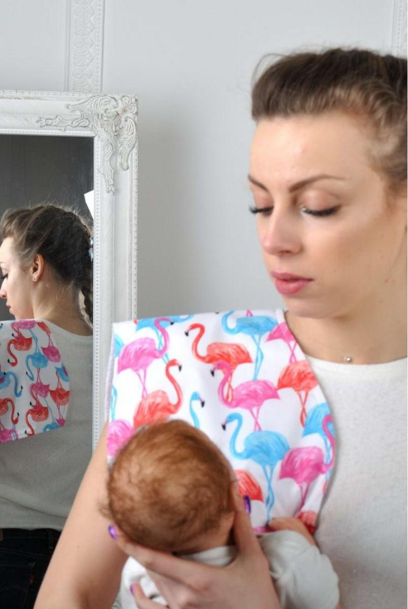 Рушник для гігієни новонародженого Фламінго мультиколор