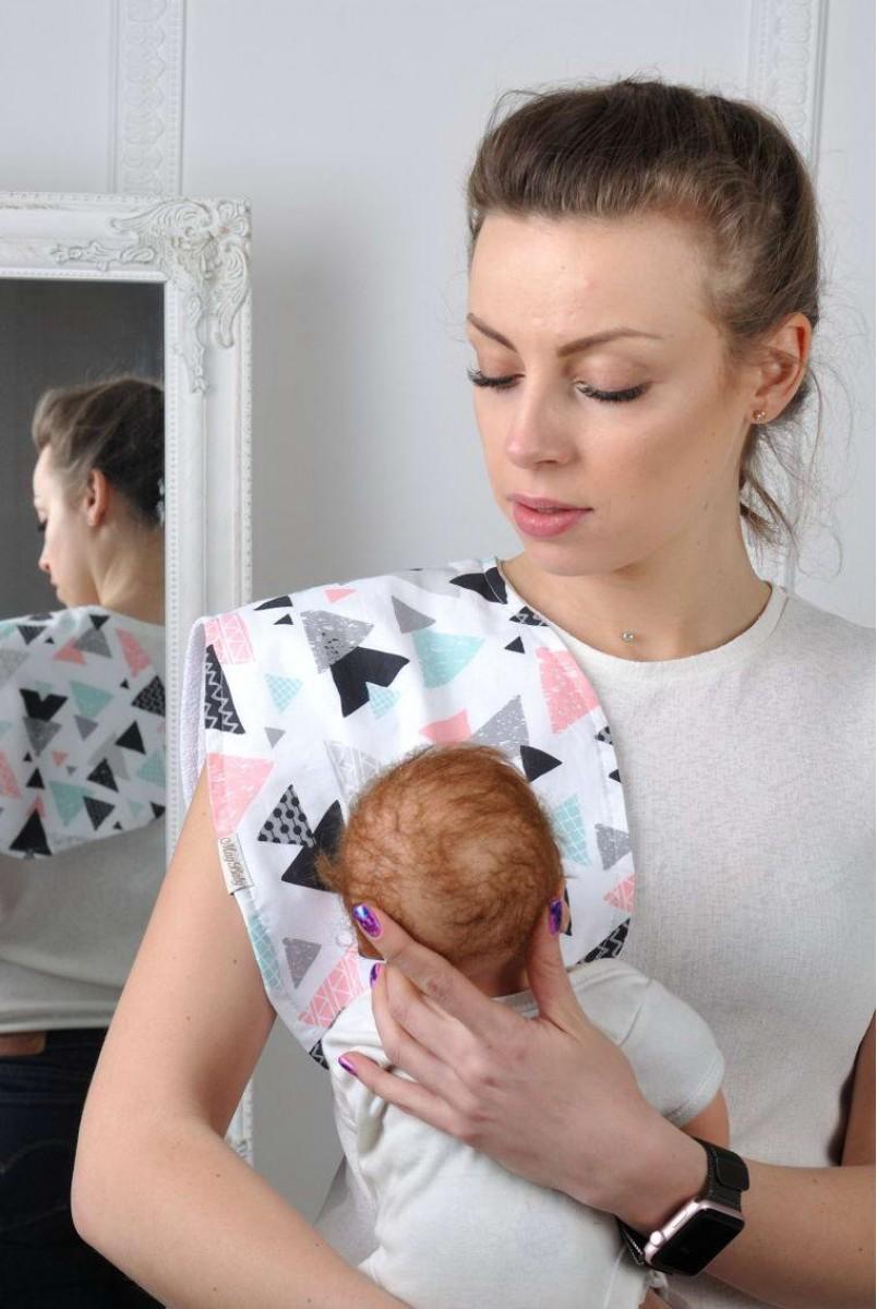 Рушник для гігієни новонародженого Кольорові трикутники