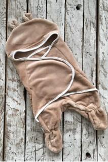 Универсальный махровый спальник-конверт коричневый