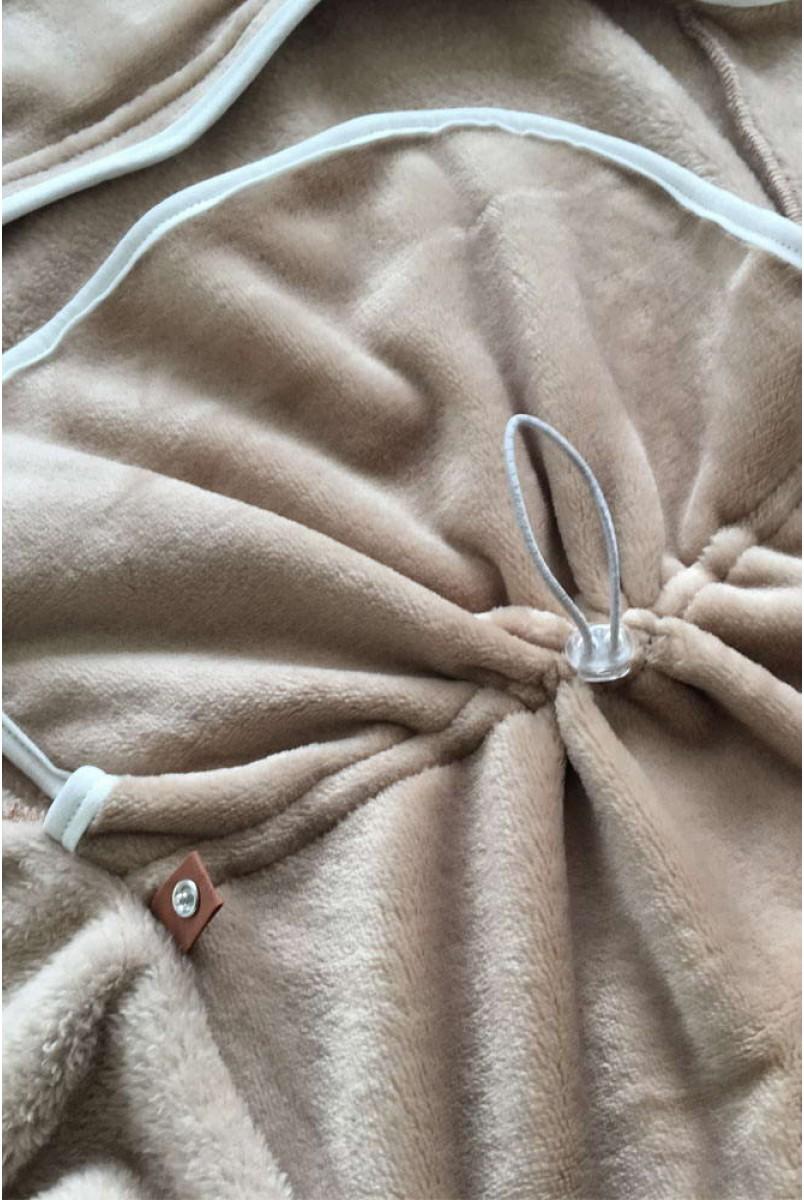 Універсальний махровий спальник-конверт коричневий