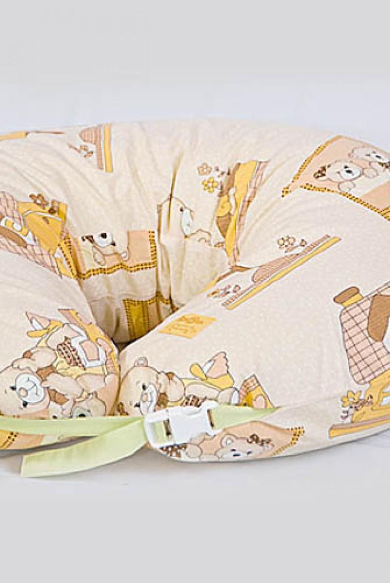 Подушка для годування підкова Бязь ведмедики в будиночку