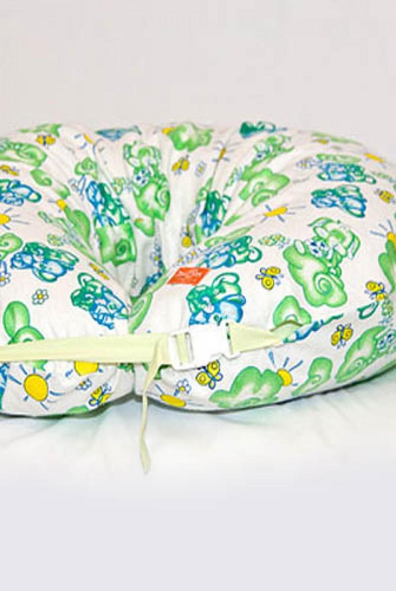 Подушка для годування підкова фланель Зелений слон