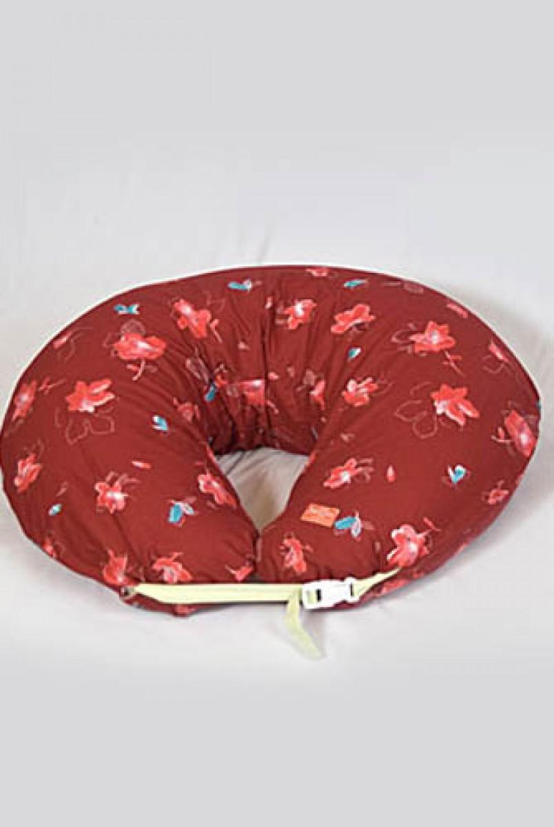 """Подушка для годування Підкова """"Червона осінь"""" європейська тканина"""