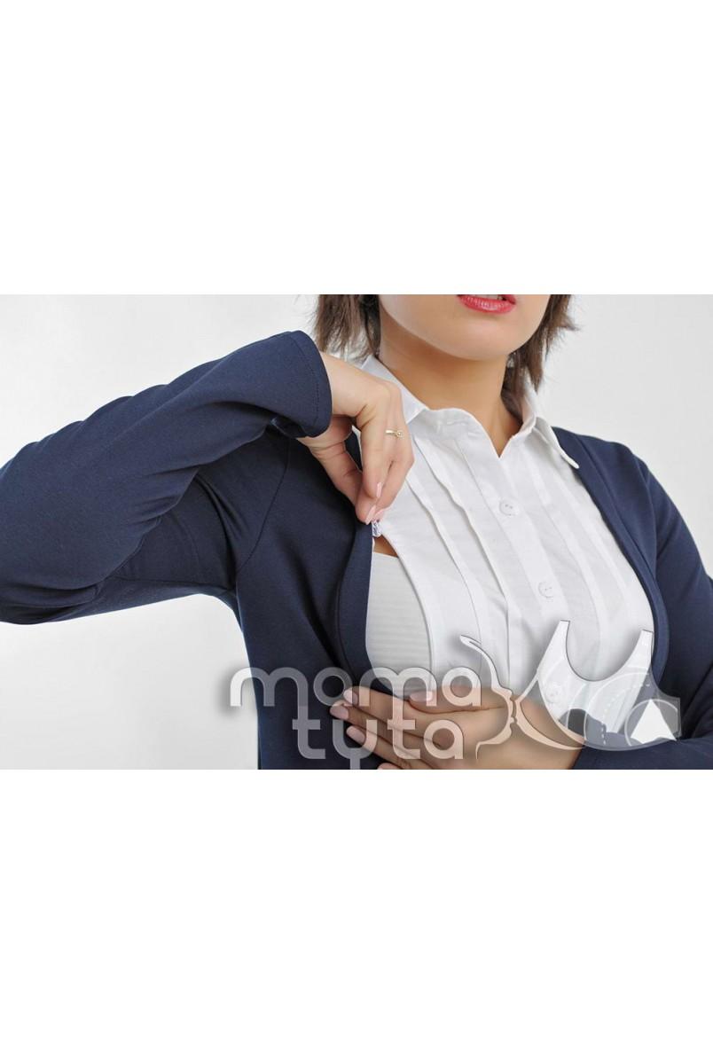 Рубашка-кардиган МАРИЯ синий 175.2 для беременных и кормящих