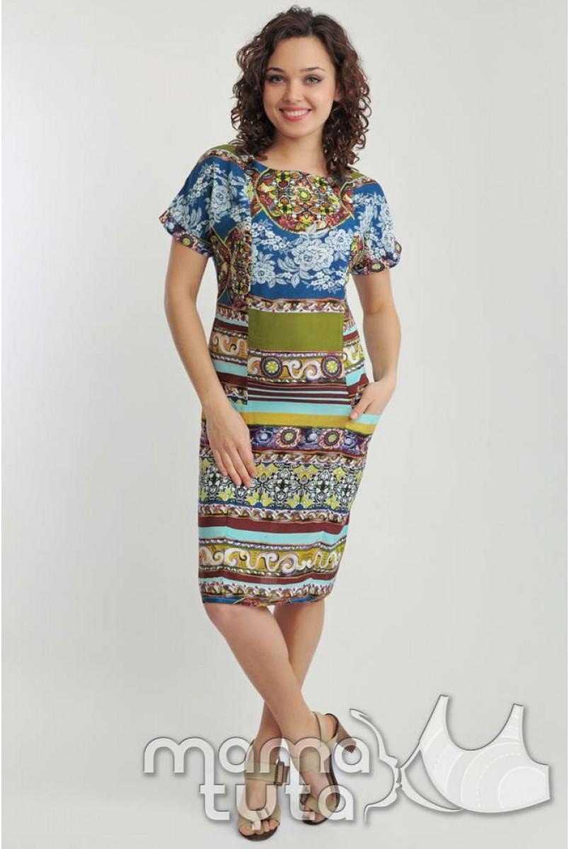 Платье Ориент (орнамент) 140.2 для кормящих мам
