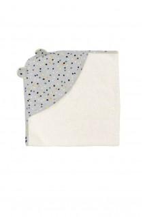 """Полотенце для малыша """"Конфетти"""" молочный 80x80"""