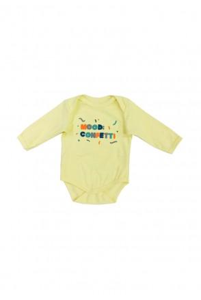 Боди с длинным рукавом для детей Мамин дом арт. 190122 лимонный