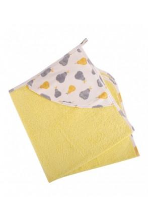 Детское полотенце с уголком Мамин Дом арт. 291102 желтое