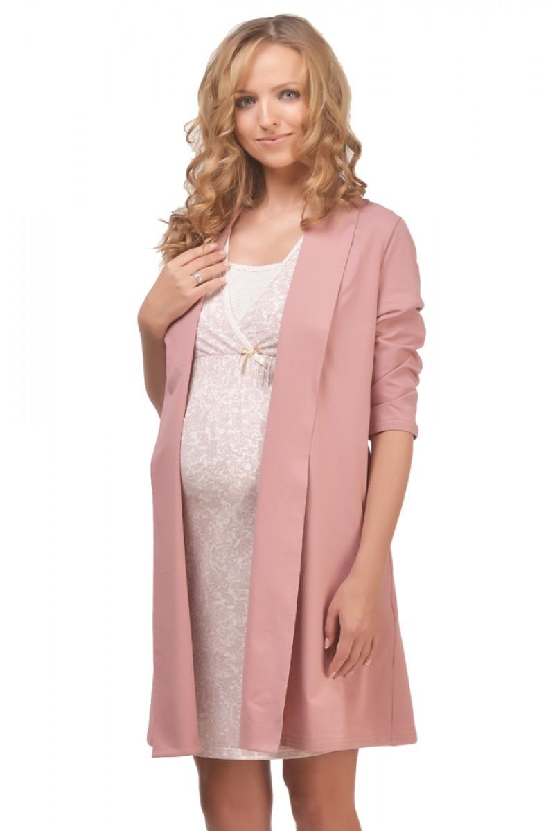 Халат трикотажний Mocco арт. 25304 для вагітних і годування