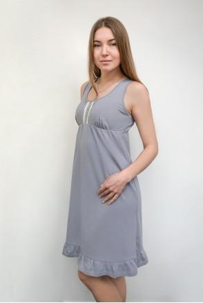 Ночная рубашка HONEY арт. 24140 серый для беременных и кормления