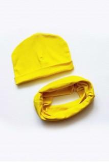 "Детский набор: шапочка и снуд ""Жёлтый"""