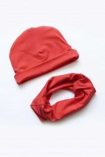 "Детский набор: шапочка и снуд ""Коралл"""