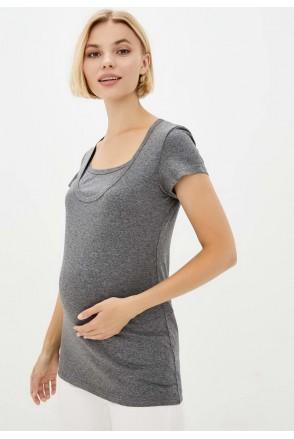 Футболка базовая темно-серый для беременных и кормящих