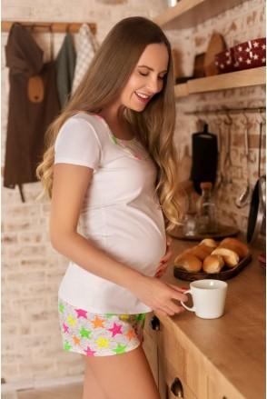 Пижама хлопковая Star для беременных и кормящих