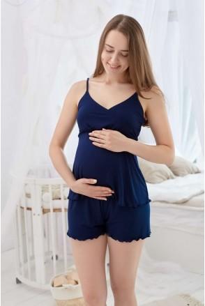 Пижама Mirelle (темно-синий) для беременных и кормления