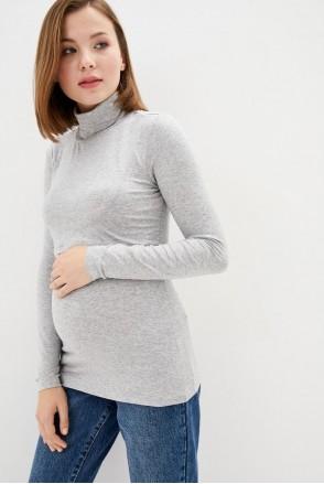 Гольф трикотажный серый для беременных и кормления