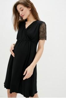 Ночная рубашка Grace черный для беременных и кормления