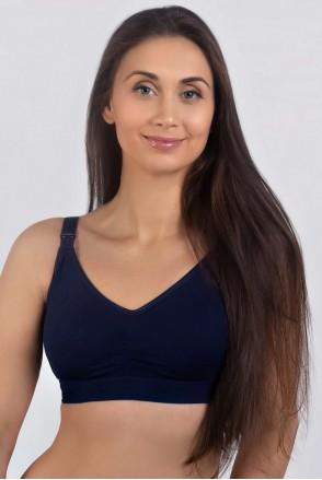 Бюстгальтер Темно-синий для беременных и кормления