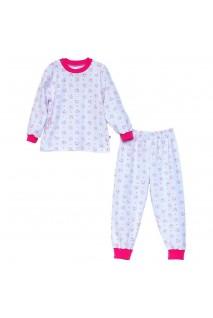 Піжама для дітей Minikin арт. 00701 білий/малиновий