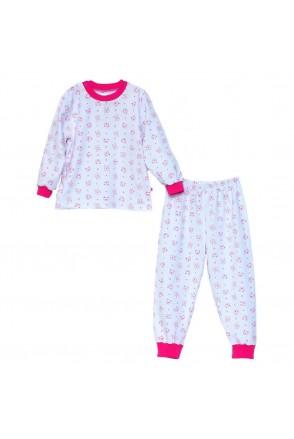Пижама для детей Minikin арт. 00701 белый/малиновый