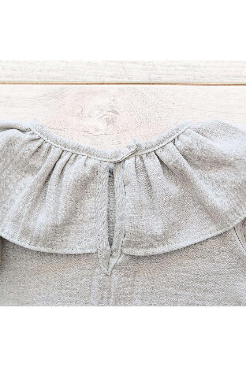 Напівкомбінезон дитячий мусліновий Minikin 2010514 сірий