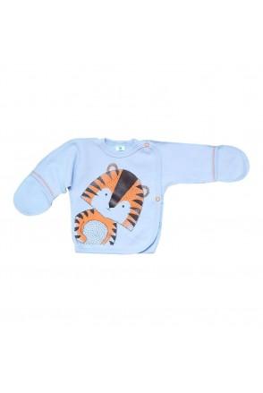 Распашонка атр. 1710503 тигр/голубой