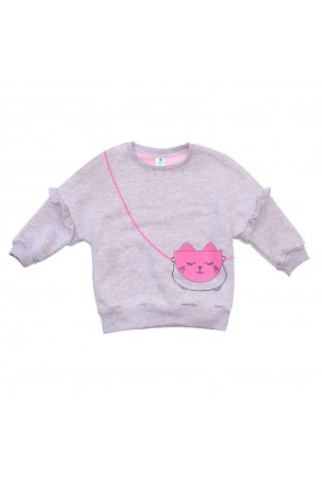 Свитшот для детей Minikin арт. 2012413 розовый/серый