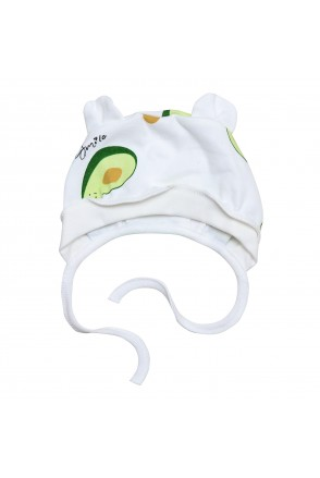 Чепчик для детей Minikin арт. 2018803 молочный/зеленый