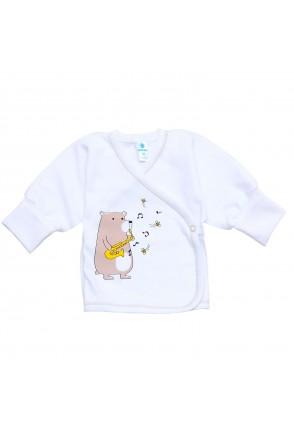 Детская распашонка Minikin арт. 2010903 белый мишка