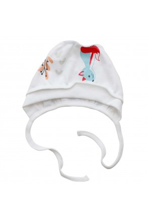 Шапочка чепчик для детей Minikin арт. 208903 молочный лисичка