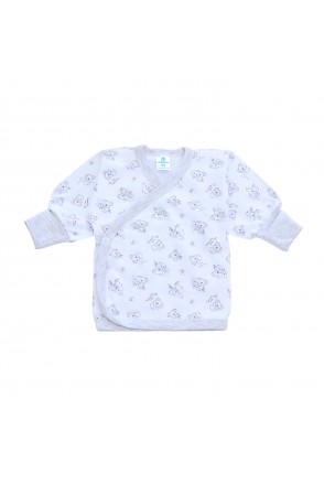 Распашонка для детей Minikin арт. 215003 белый/серый