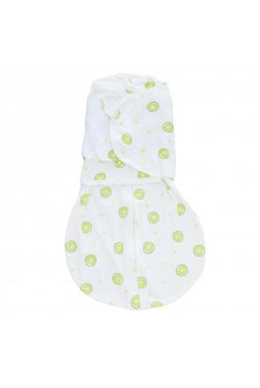 Кокон пеленальный универсальный с рукавами Minikin 214103 белый/салатовый