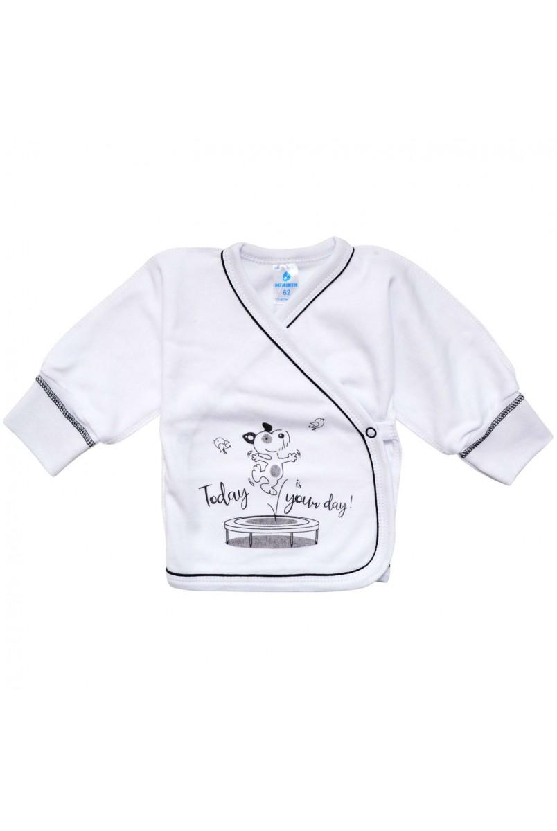 Сорочечка арт. 1960703 білий з чорним кантом