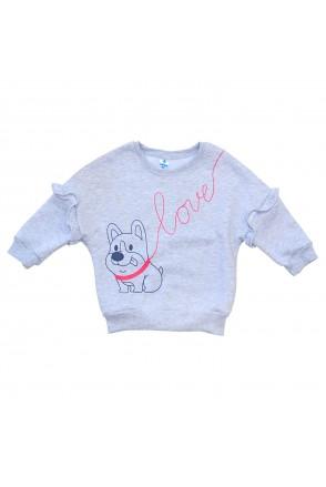 Свитшот для детей Minikin арт. 2012413 серый меланж