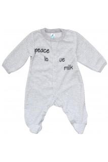 Комбінезон для дітей Minikin арт. 192304 сірий pice love milk