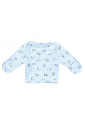 Детская распашонка Minikin арт. 00103 голубой собачка
