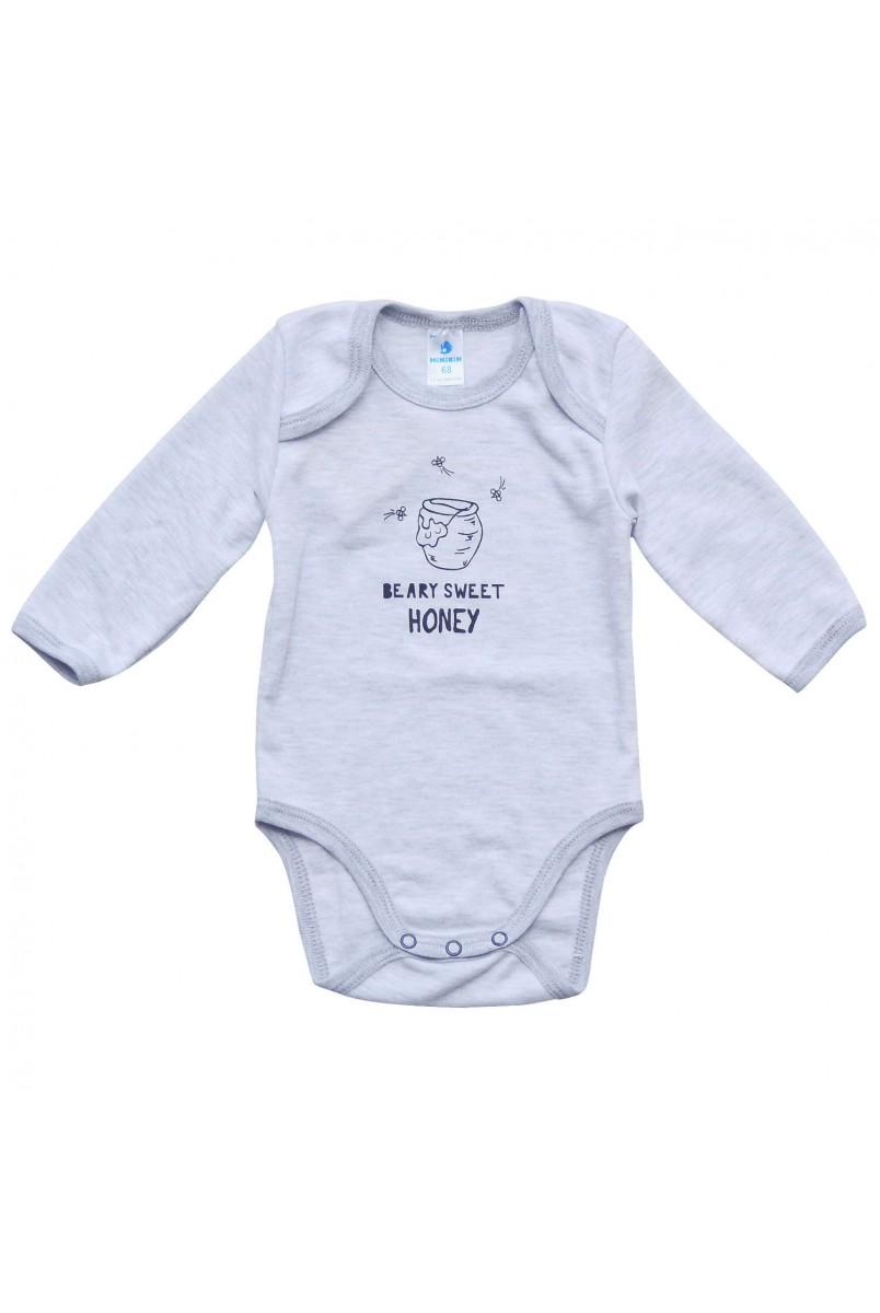 Боди для детей Minikin арт. 207103 серый/меланж