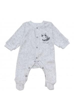 Детский комбинезон Minikin арт. 212305 серый/меланж