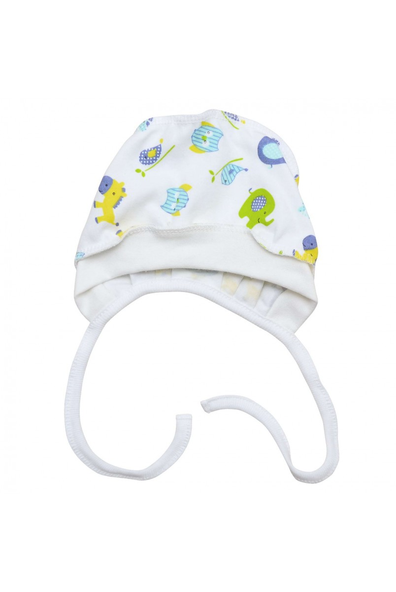 Шапочка чепчик для детей Minikin арт. 208903 салат/голубой
