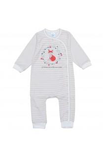 Комбінезон для дітей Minikin арт. 204603 смужка/молочний