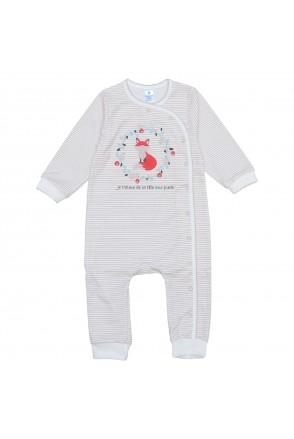 Комбинезон для детей Minikin арт. 204603 полоса/молочный