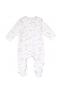 Комбінезон для дітей арт. Minikin 00403 молочний/рожевий