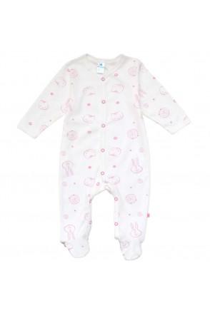 Комбинезон для детей арт. Minikin 00403 молочный/розовый