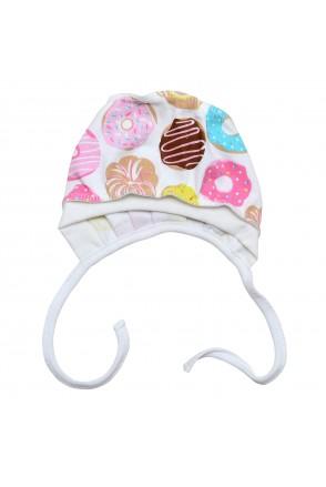 Шапочка чепчик для детей Minikin арт. 208903 роз/желтый