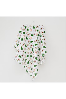 Муслиновая пеленка для детей Minikin арт. 190814 белый/зеленый