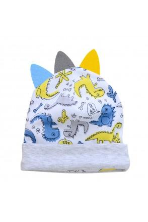 Шапочка для детей Minikin арт. 211903 белый/серый