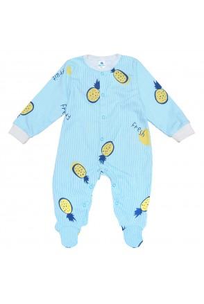 Комбинезон для детей Minikin арт. 2010703 голубой/голубая полоска